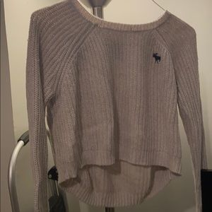 Cropped A&F sweater